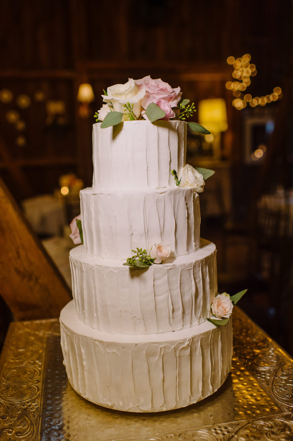 Cake with Flowers (Photo Credit: L. Hewitt Photography)