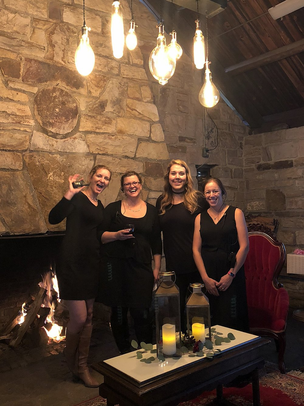 Farmhouse Fête Planning Team - pictured from left to rightCaroline Miller- PlannerLeigh Clarke- OwnerDanielle Cline- Planner, Floral DesignerApril Hershberger- Planner, Marketing