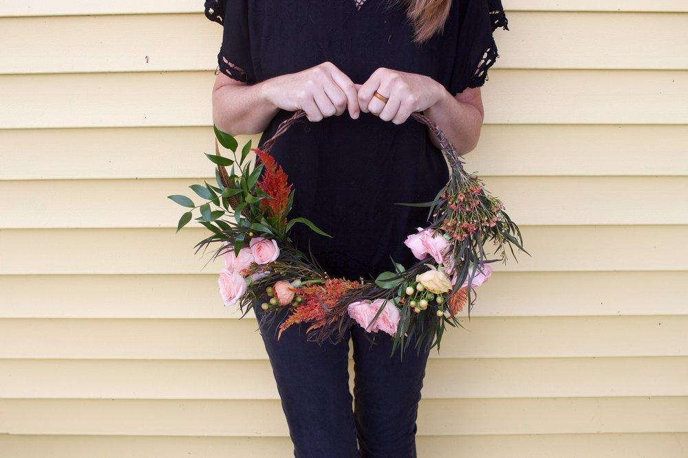 Hoop wreaths