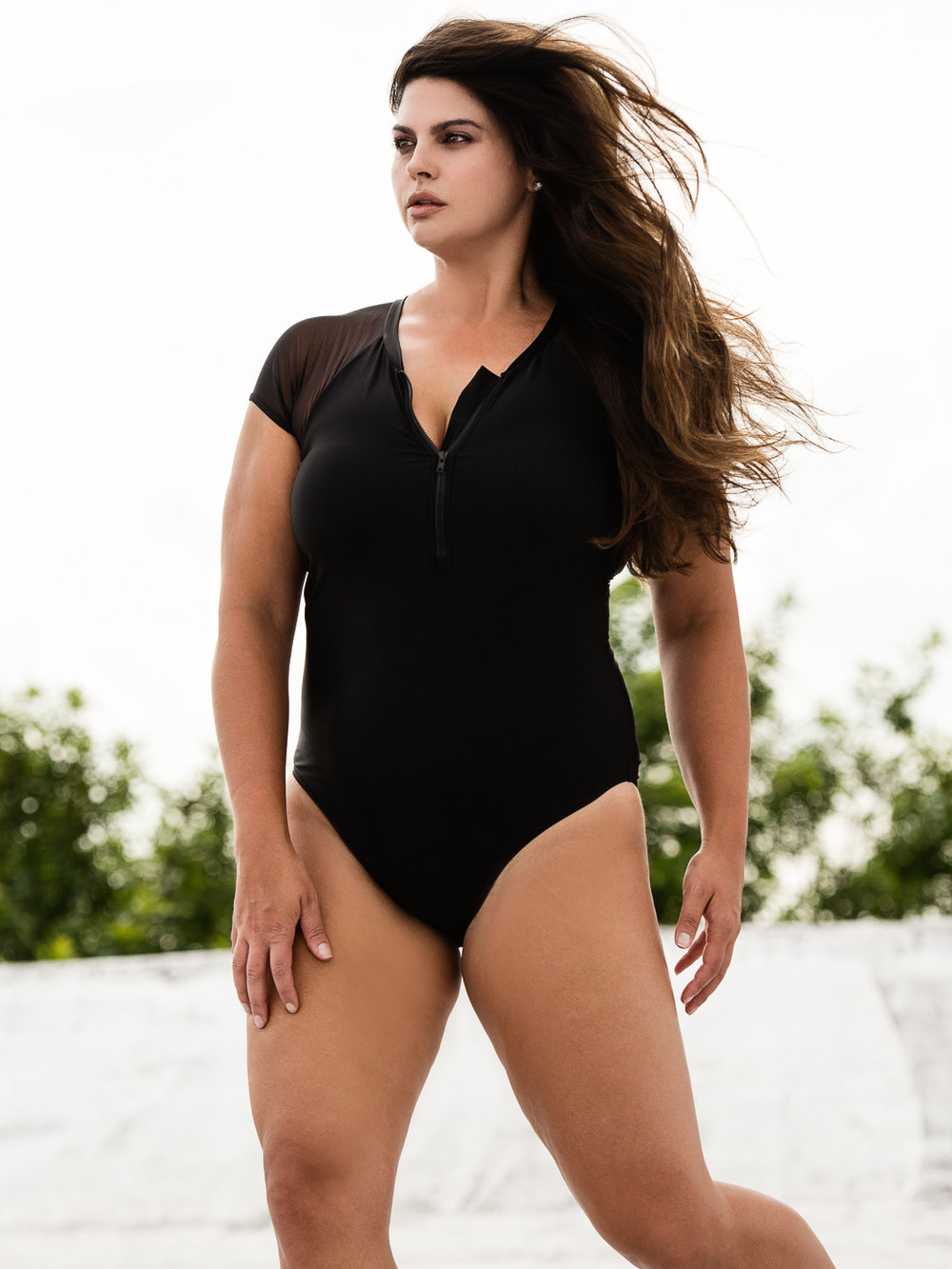 Swimsuit by Simply Be. Photo by Nick Suarez. HMU by Georgia Mitropoulos.