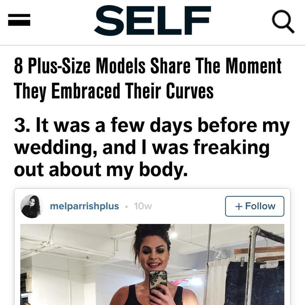 Melinda Parrish, Plus Size Model