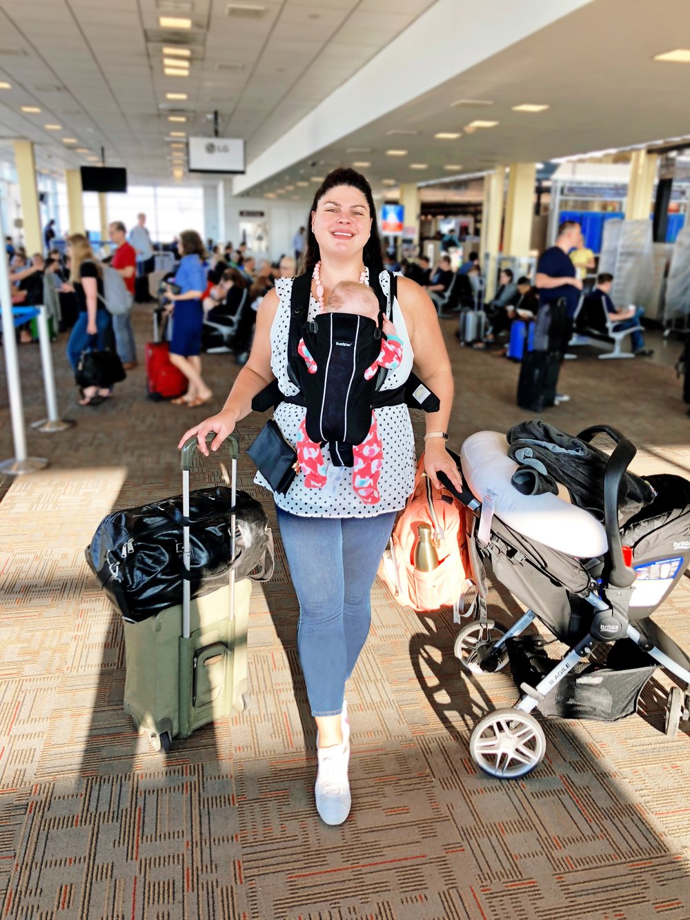 One of our first trips as a family of three. We totally overpacked, can't you tell?!