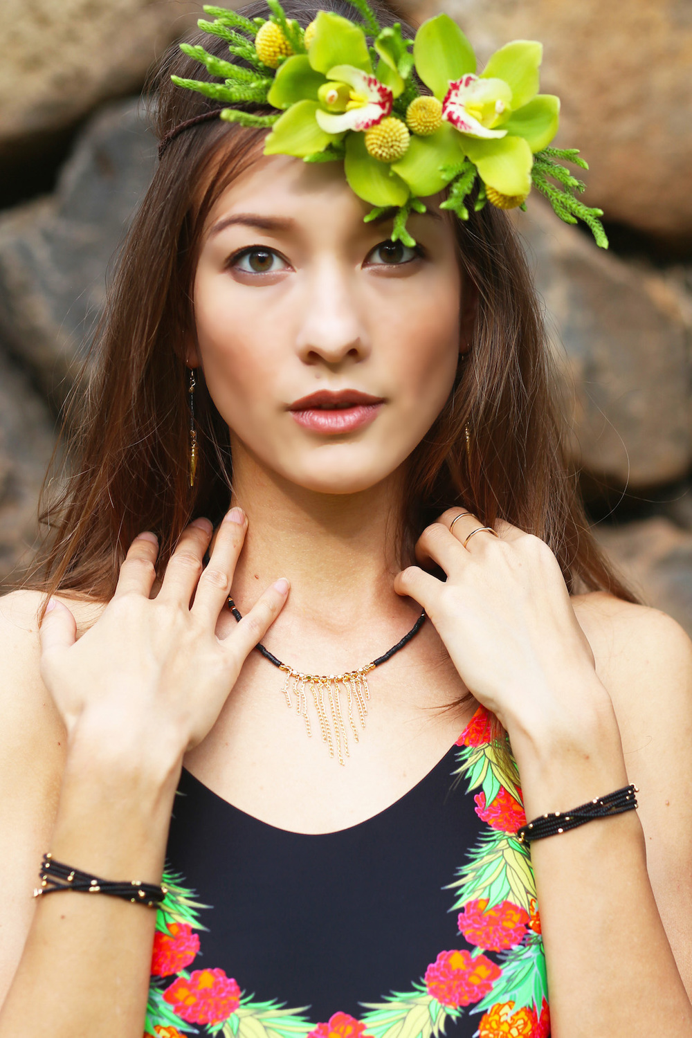 Hawaiian Floral crown paiko