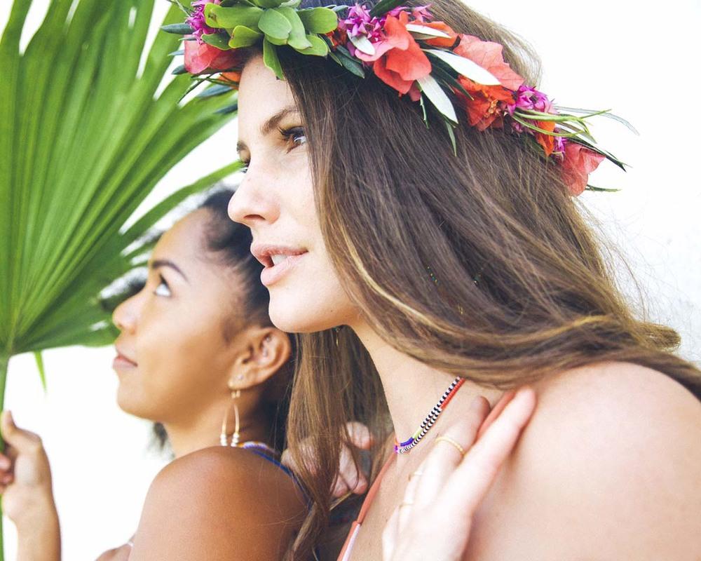 paiko floral crown crown