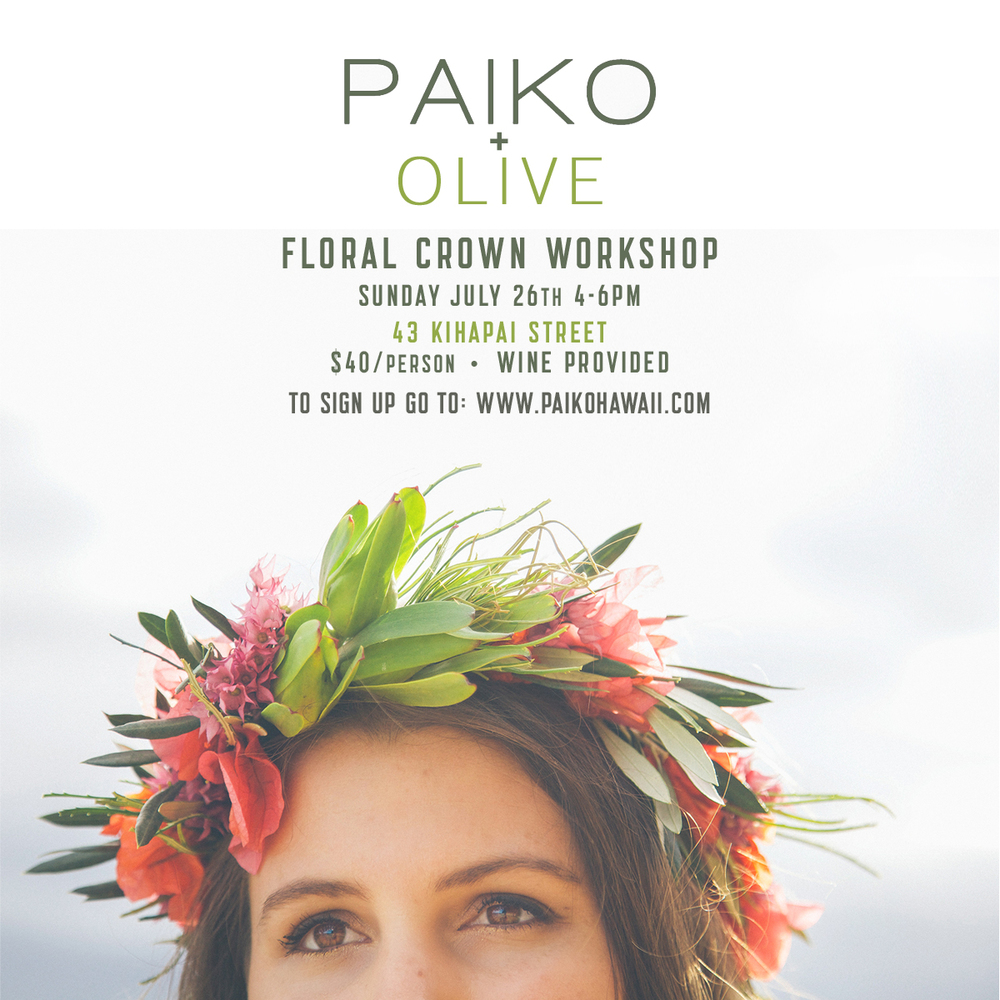 Flower Crown Workshop At Olive Boutique Paiko