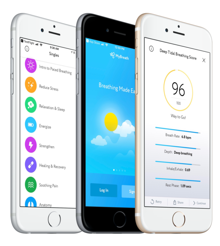 Breathing Made Easy. - Relax, reduce stress, improve your performance and feel refreshed within seconds. Try out myBreath app version 2!