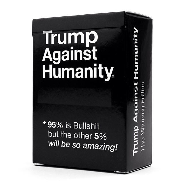 Watching political leaders attempt to translate the meaning of Trumps statements seems like a natural game concept... #TrumpAgainstHumanity