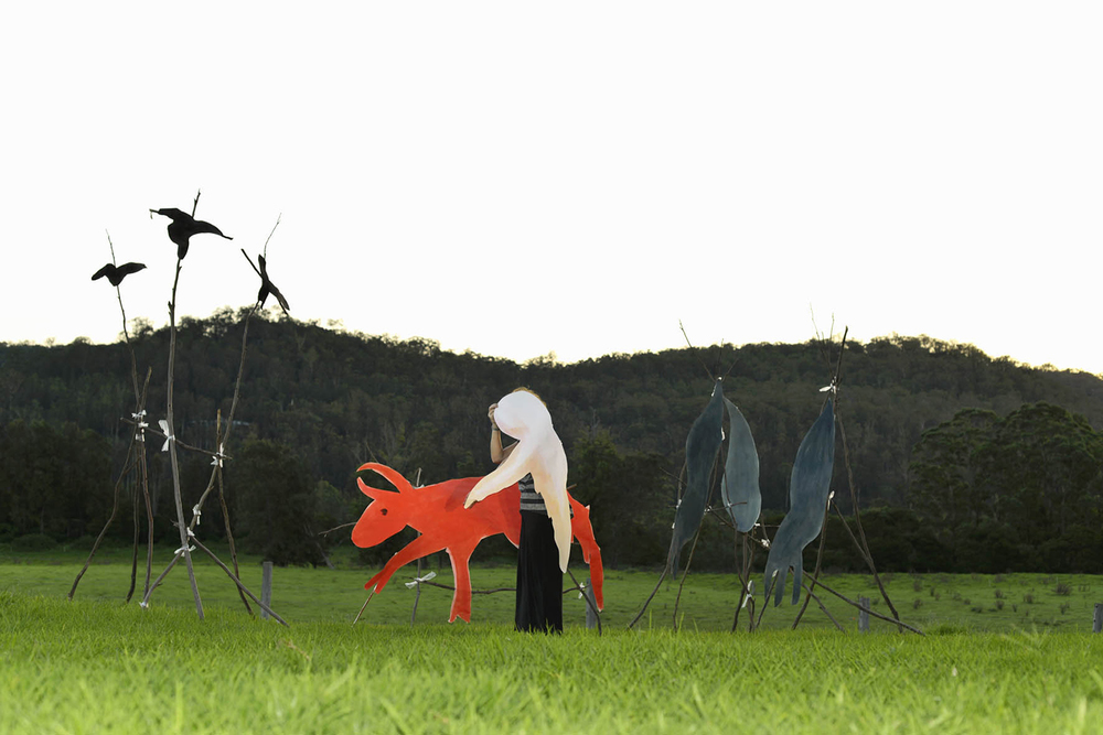 Red Cow and Ghost Figure, 2013, Giclee Photographic Print, 100.0 x 66.7 cm