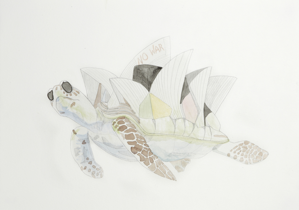 Floating Freedom, 2012, Watercolour and pencil on paper, 29.0 x 42.0 cm, Photo: Sam Scoufos