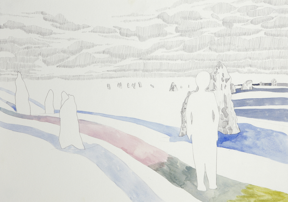 Plateau, 2012, Watercolour and pencil on paper, 29.0 x 42.0 cm, Photo: Sam Scoufos