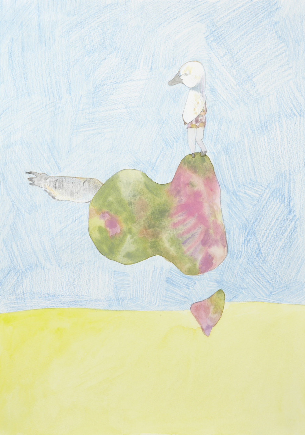 Australia #3, 2012, Watercolour and pencil on paper, 29.7 x 42.0 cm, Photo: Sam Scoufos