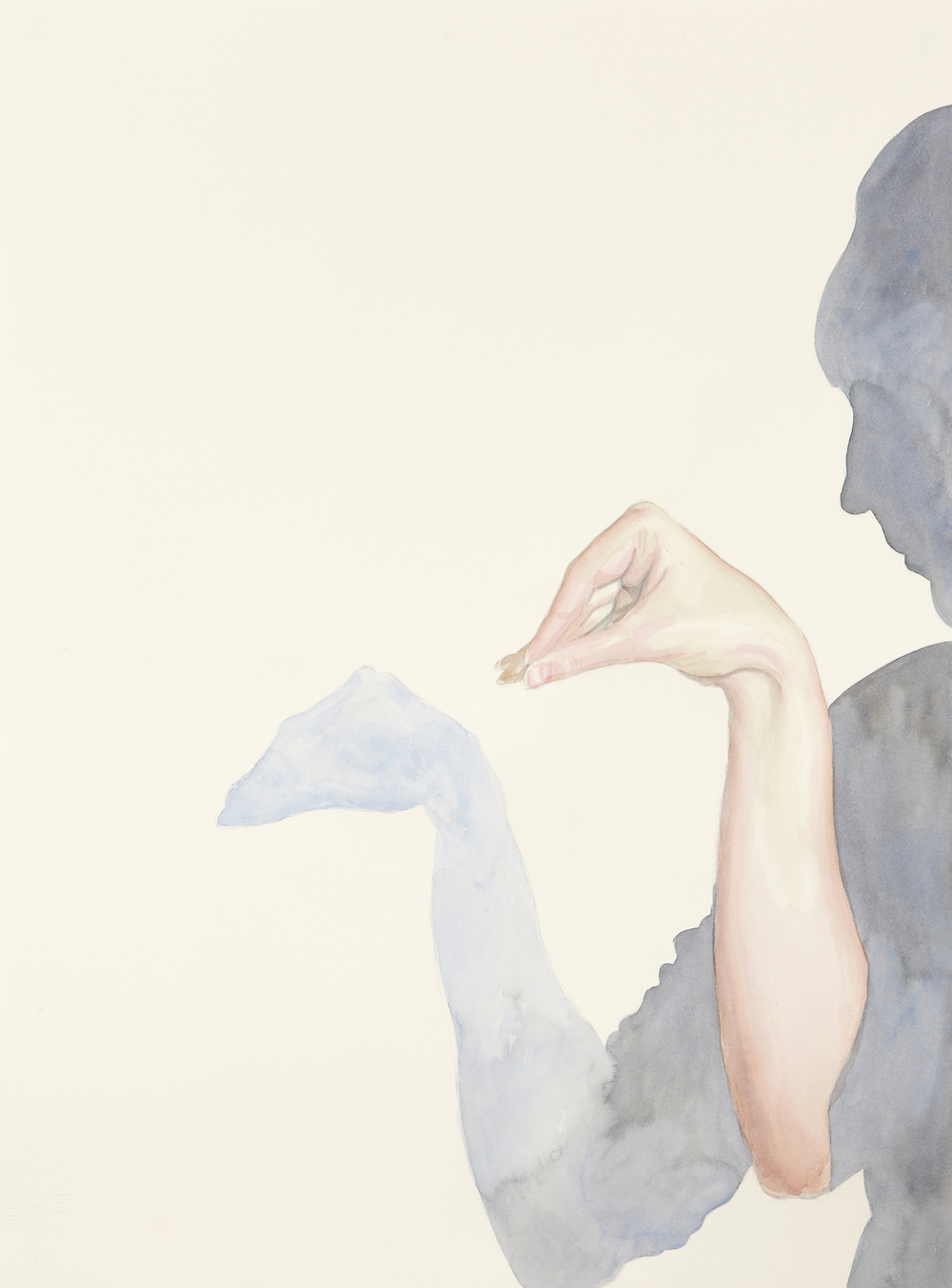 Two, 2011, Watercolour on paper, 56 x 76 cm, Photo: Sam Scoufos