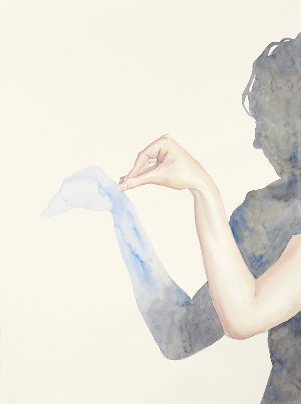 Five, 2011, Watercolour on paper, 56 x 76 cm, Photo: Sam Scoufos