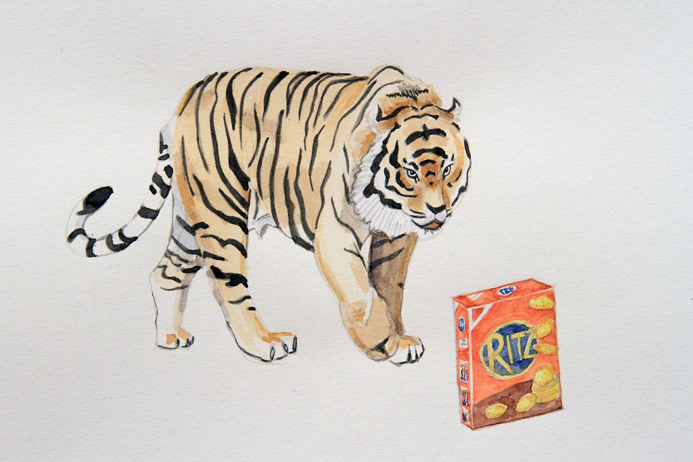 Salty Revenge, 2010, Watercolour on paper, 29.7 x 42.0 cm, Photo: Michaela Gleave
