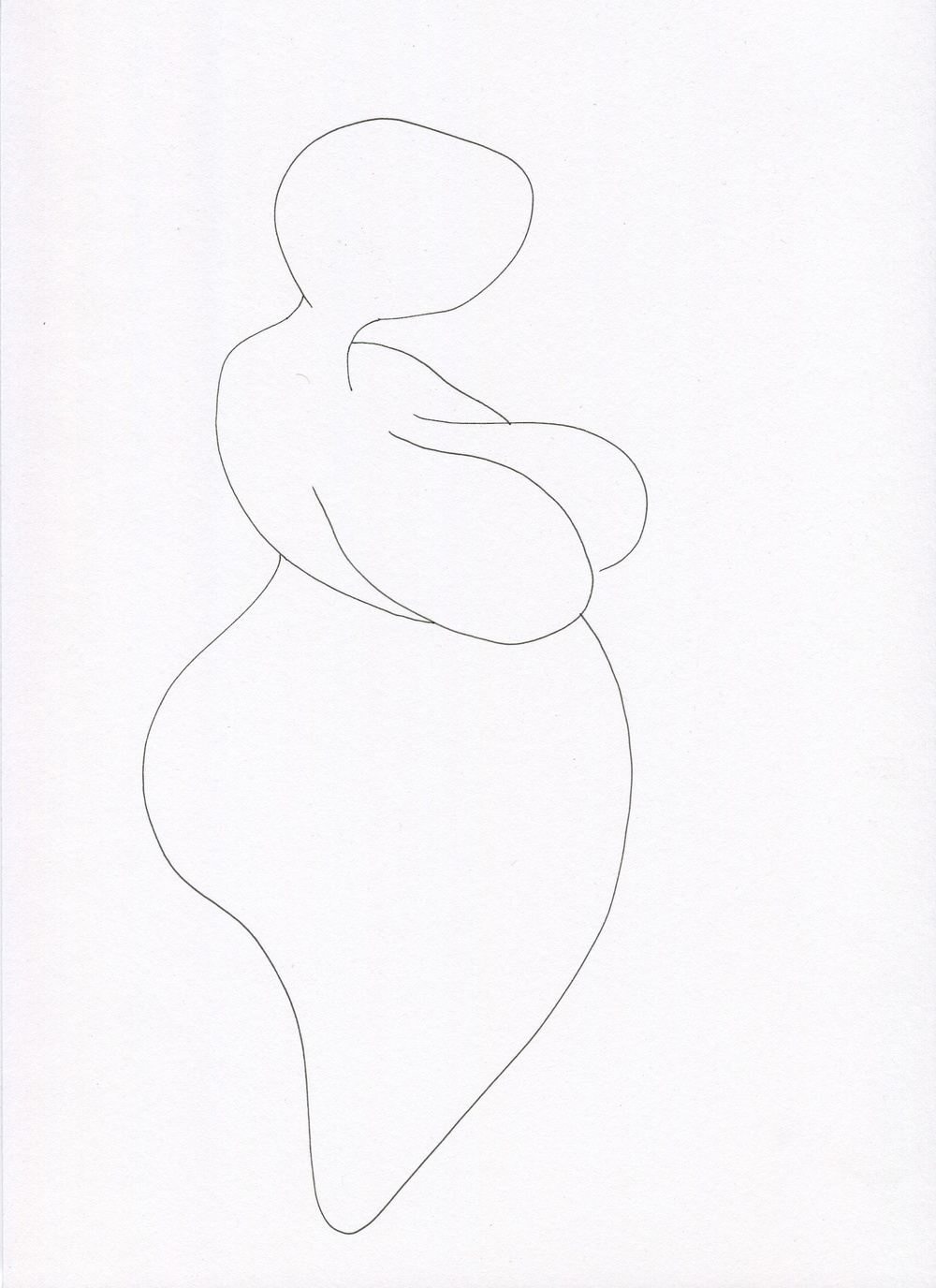 Serene from the Venus of Brisbane series, 2015, Ink on paper, 21.0 x 30.0 cm