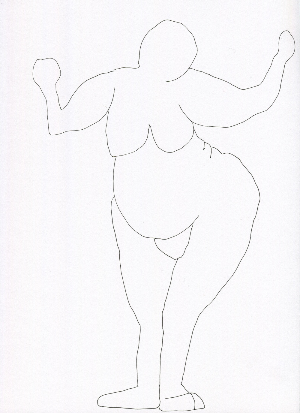 Sweet Ecstacy from the Venus of Brisbane series, 2015, Ink on paper, 21.0 x 30.0 cm