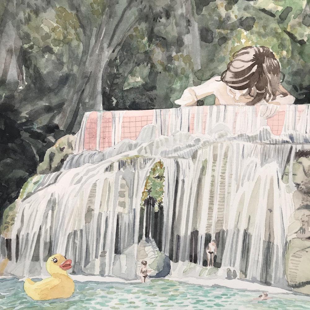 Camille Serisier, Bathtime, 2018, 21.0 x 21.0 c, Image copyright Camille Serisier