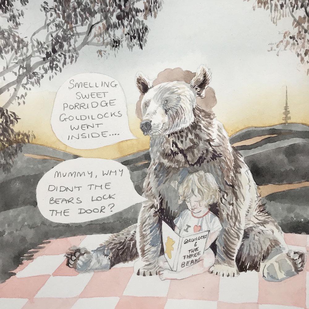 Camille Serisier, Goldilocks, 2018, 21.0 x 21.0 c, Image copyright Camille Serisier