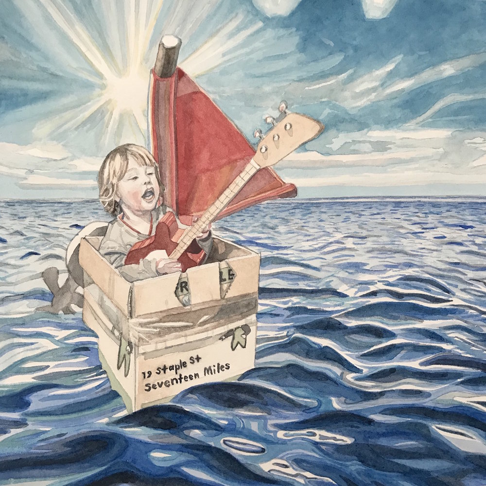 Camille Serisier, Sailing , 2018, 21.0 x 21.0 cm, Image copyright Camille Serisier