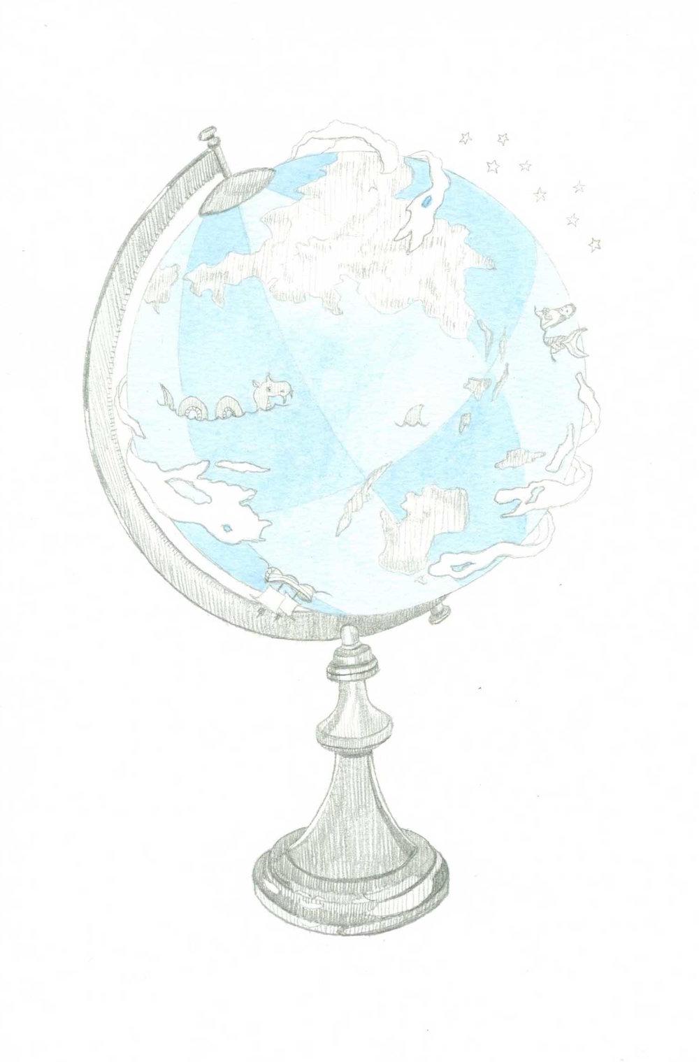 Camille Serisier, 2012, Illustration for Creative Non Fiction Magazine, © Camille Serisier