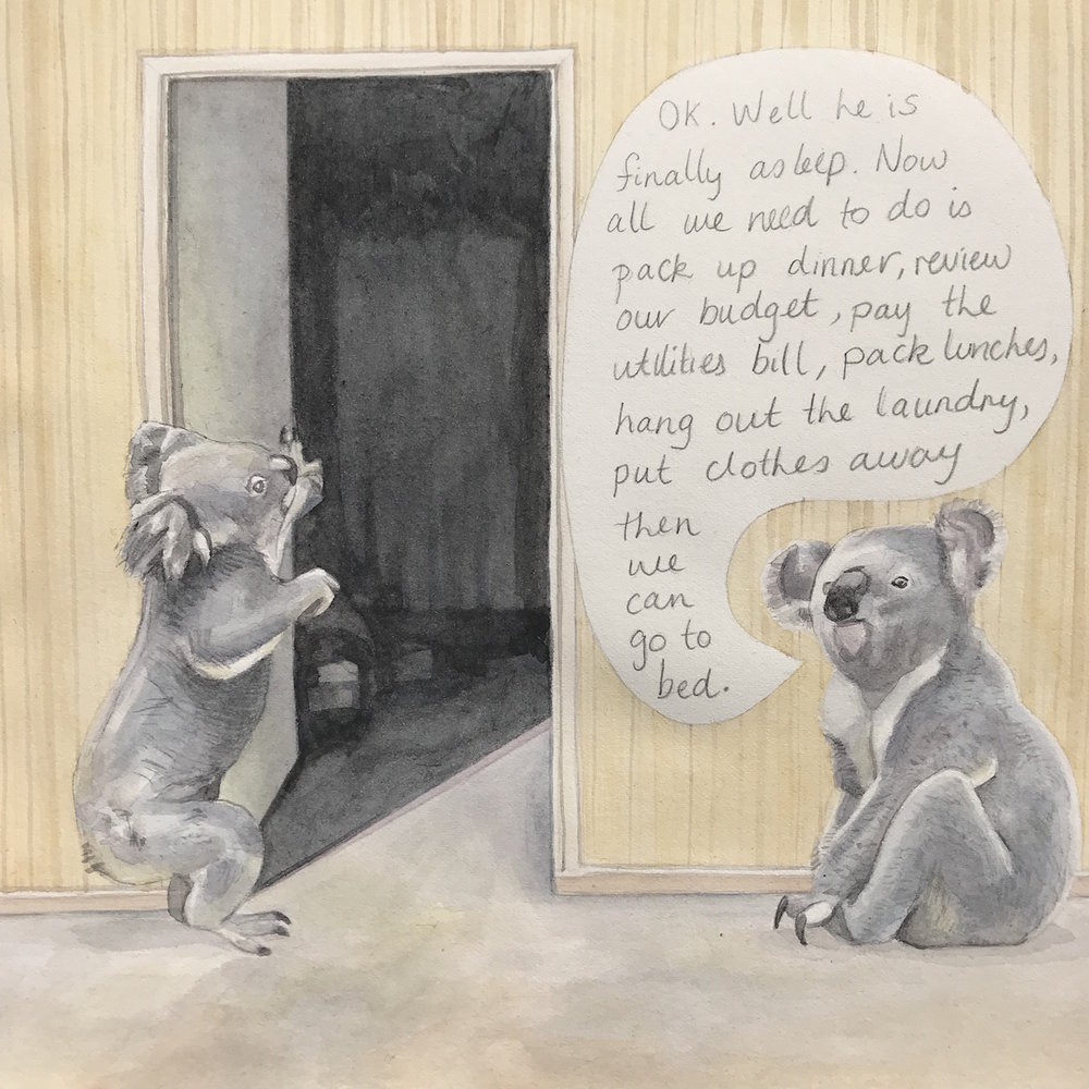 Camille Serisier, Family goals , 2018, 21.0 x 21.0 cm, Image copyright Camille Serisier