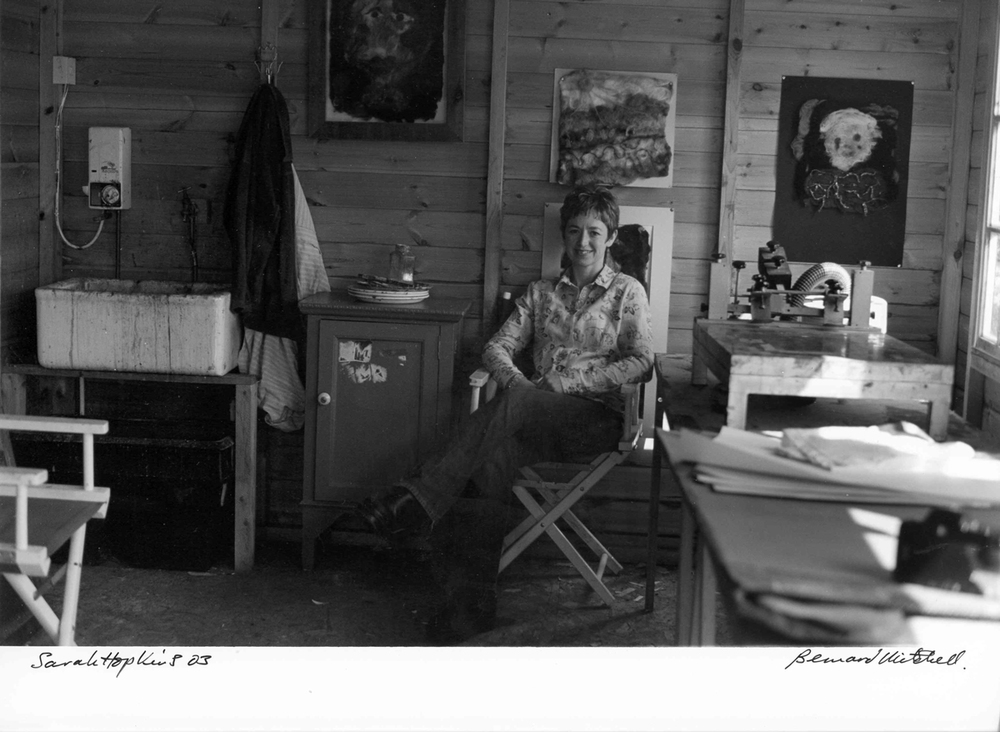 Bernard Mitchell portrait of Sarah Hopkins, 2003 at her studio
