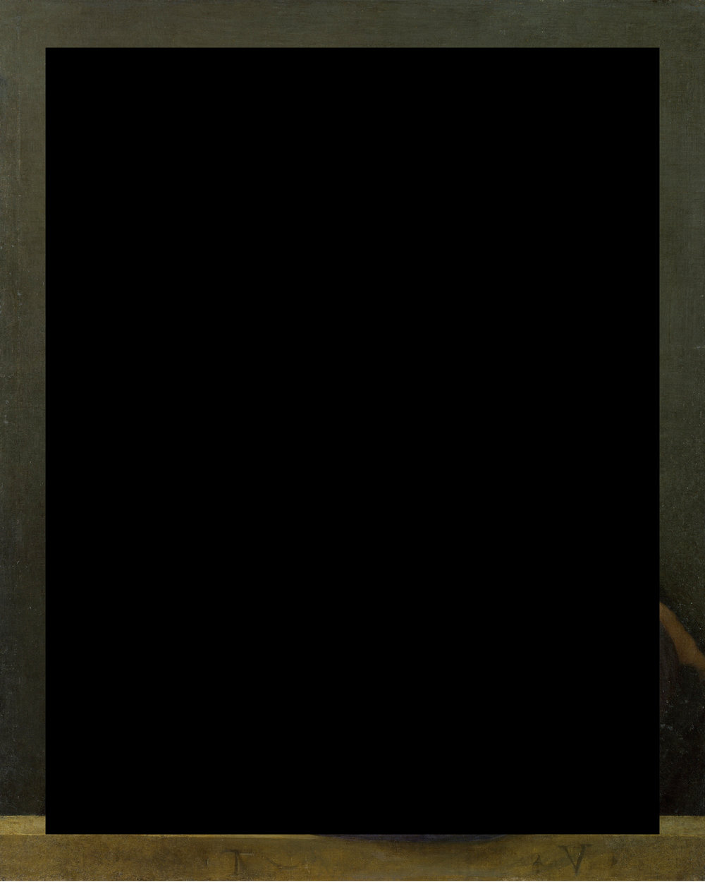 bronzino / black rectangle