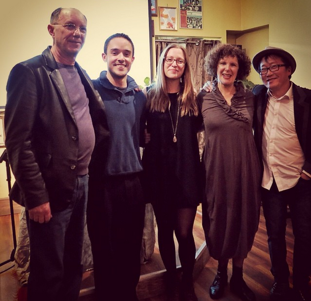 Morton Ritts, Justin Lauzon, Christine Ottoni, Jill Solnicki, Sang Kim at Writes of Passage October 2014.