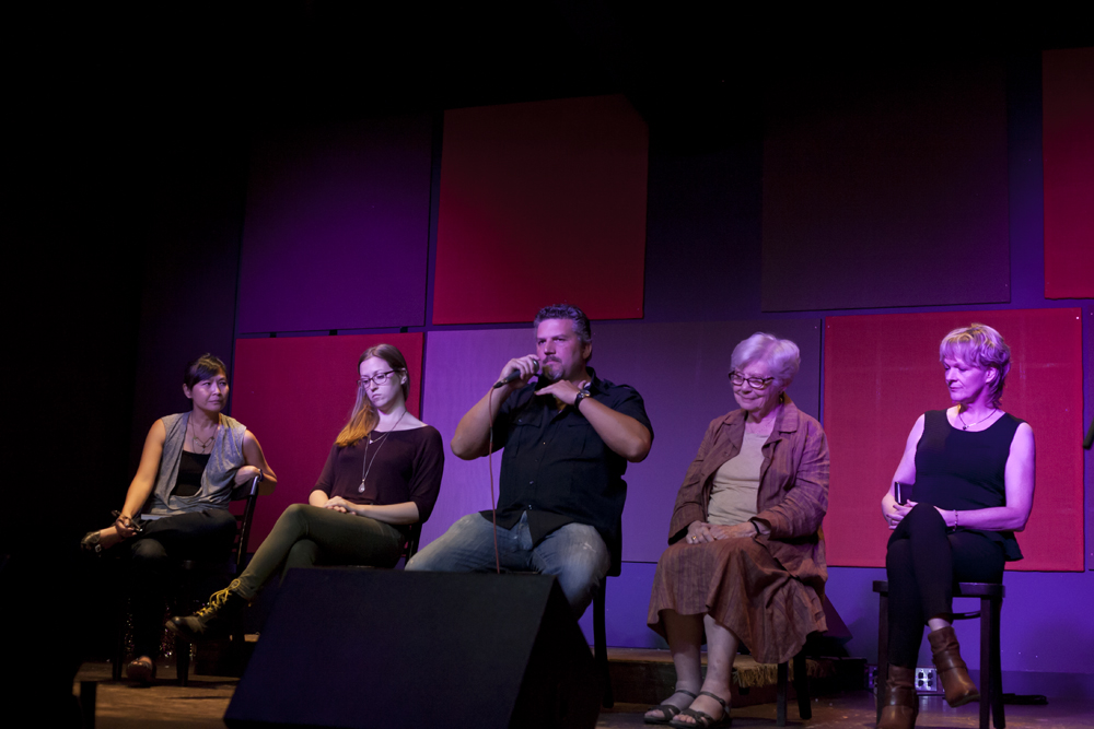 Carrianne Leung, Christine Ottoni, Chuck Crabbe, Jean Baxter and Janet Turpin Myers at Junction Reads September 2014.