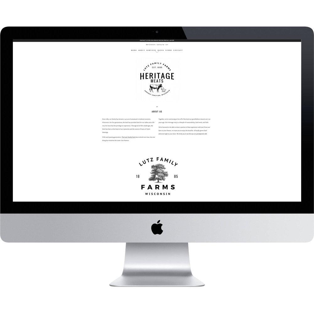 Family Farm Organic Beef Website Designer Online Store