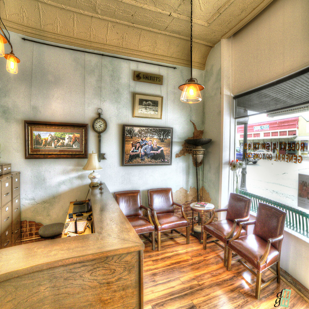 Our newly-renovated waiting room. Did you know that we are located next to a candy store?