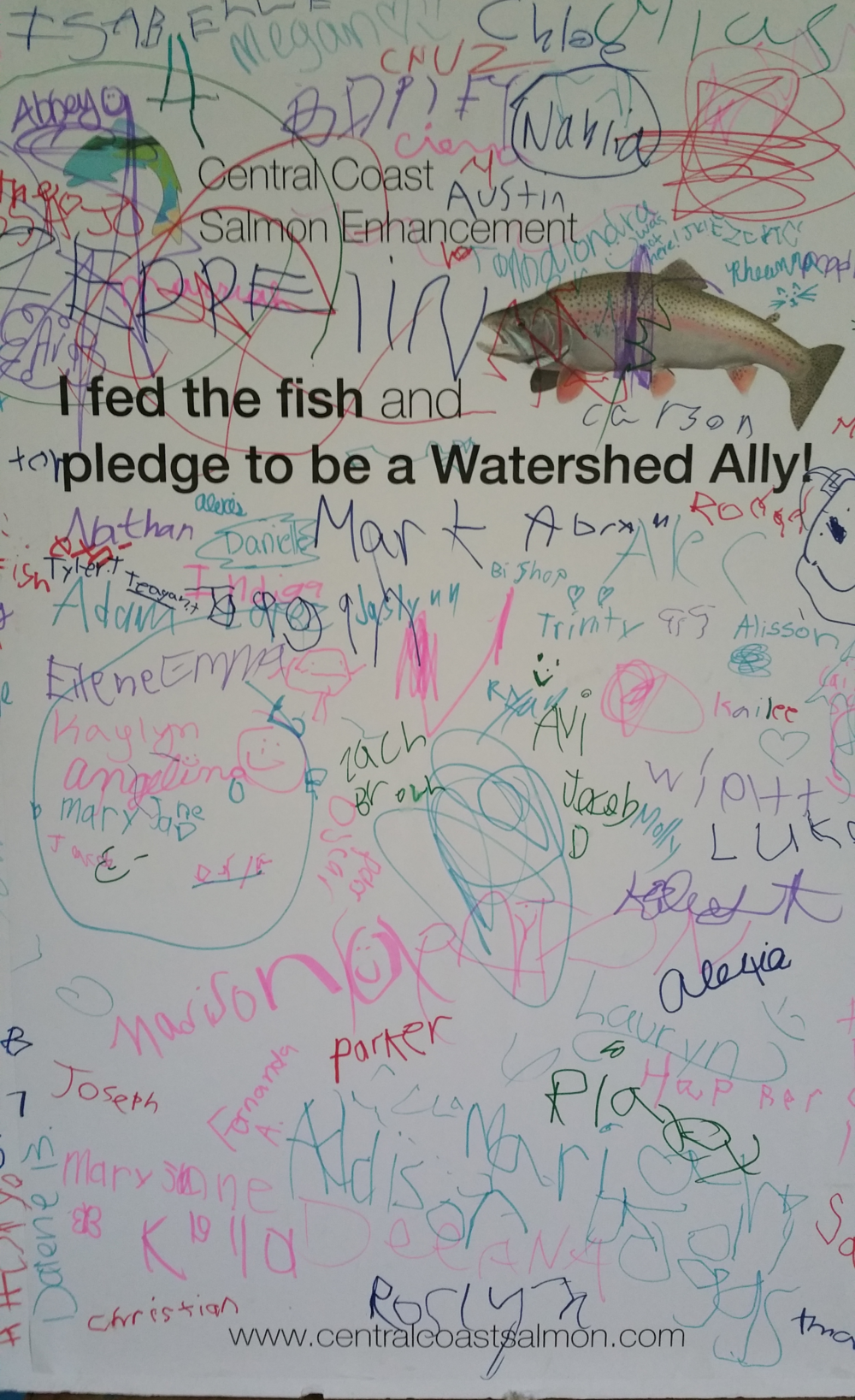 "Look at all the young people who pledged to be a ""Watershed Ally"""