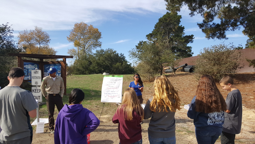 Above: students learning about the importance of water quality to the health of our watershed