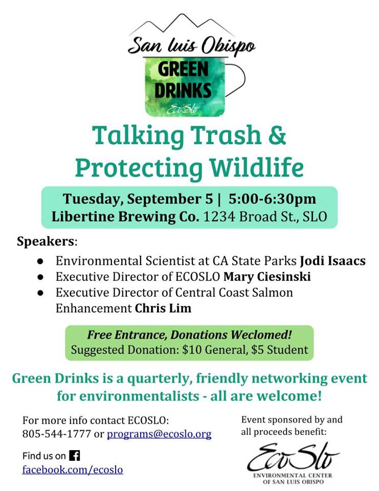 green drinks san luis obispo flier