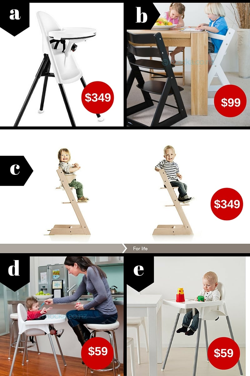5 Fantastic High Chairs. Prices quoted are NZ RRP at time of writing.