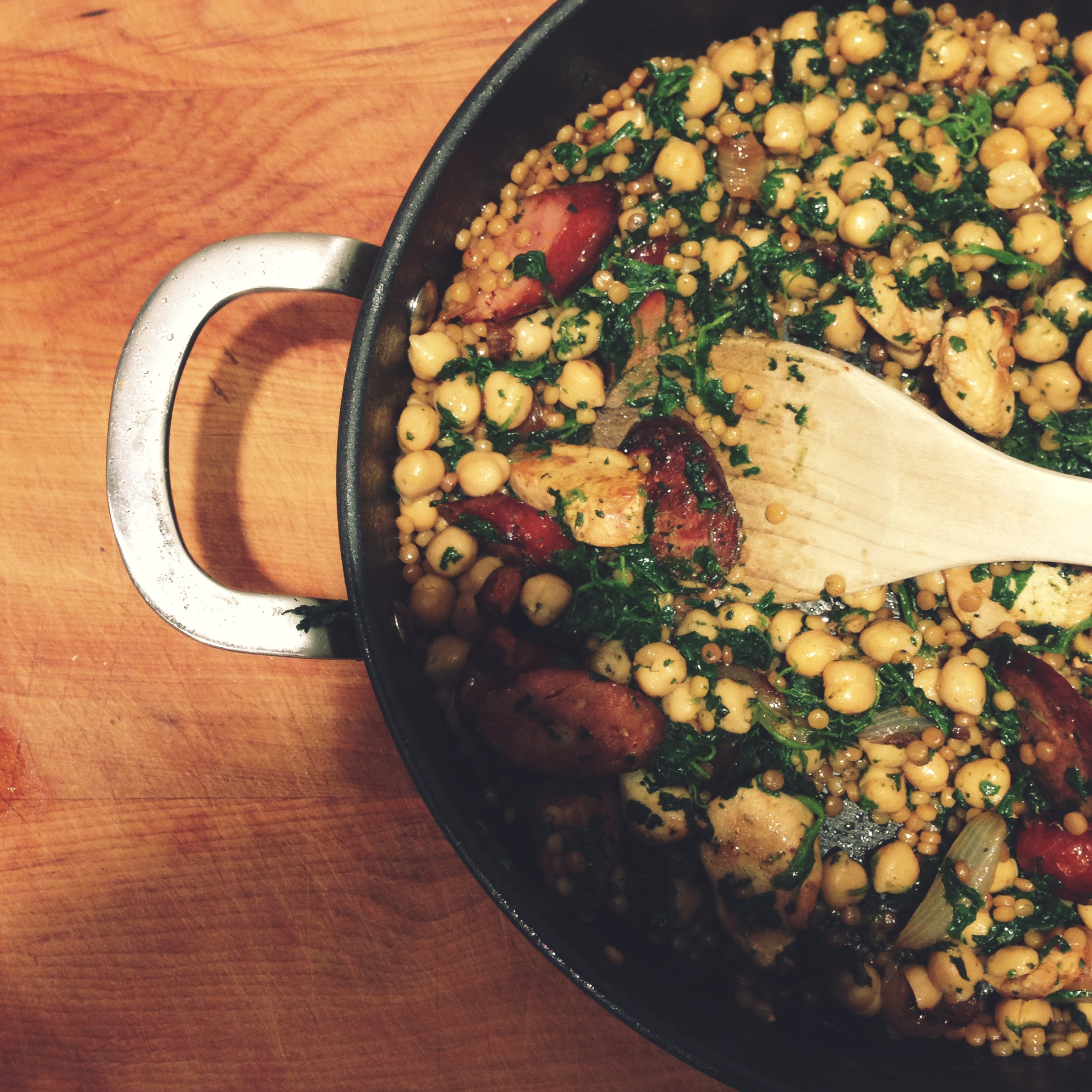 Chickpea, Chicken, Chorizo and Couscous | Click on the image for RECIPE