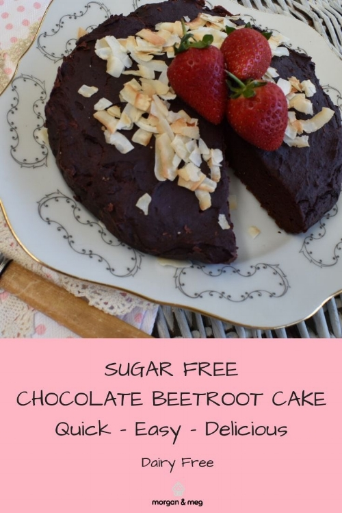 Sugar Free Chocolate Beetroot Cake