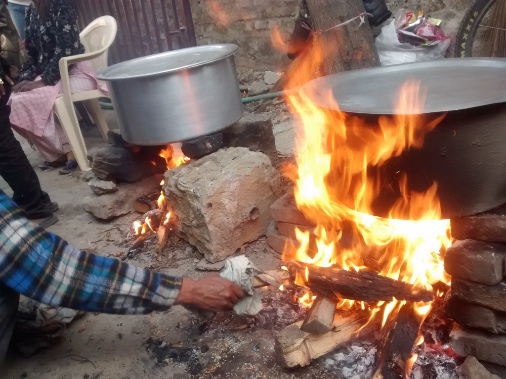 With the ongoing border blockade, we are still without cooking gas, but firewood still works!