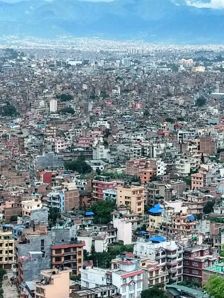 One very small section of Kathmandu.