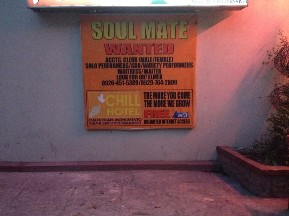 Chill Hotel cross promotes with the KTV Disco next door called Soul Mate.