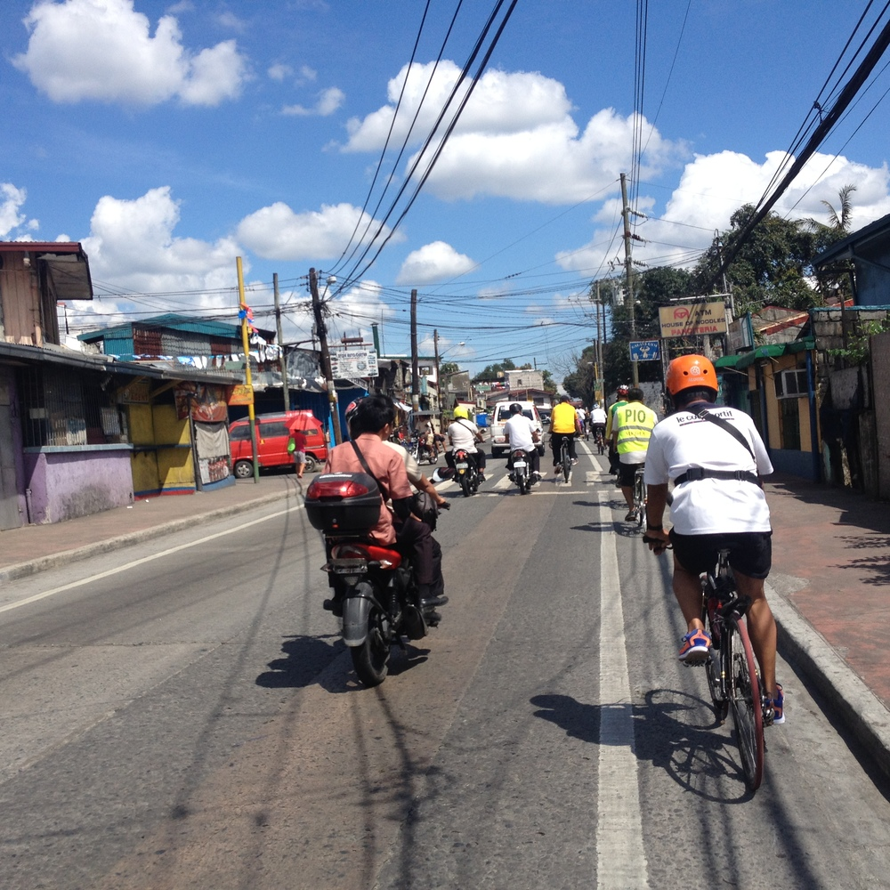 Since the density in Marikina is quite low and there is not a high population, these single, unprotected bike lanes seemed appropriate. A similar design would not work in another area with higher traffic.