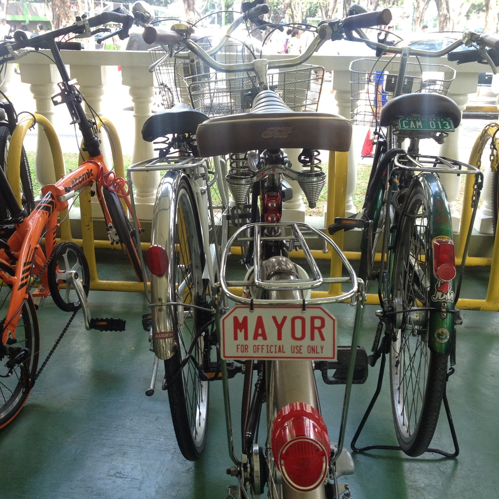 You know biking is a priority when the Mayor bikes to work!
