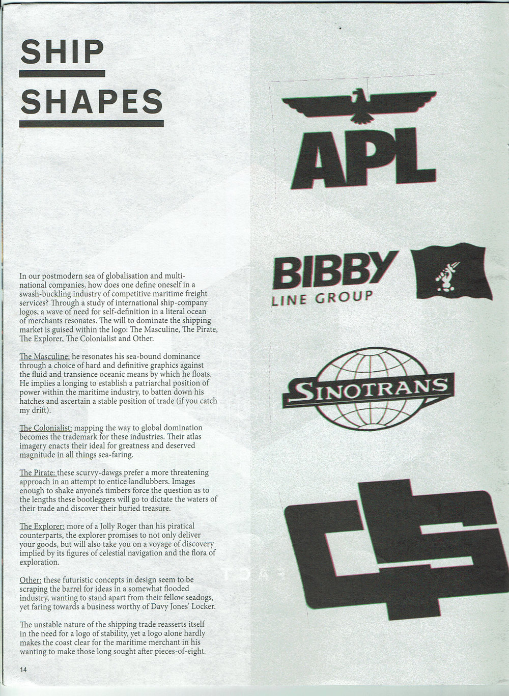 Ship Shapes - Article Magazine Ports Issue