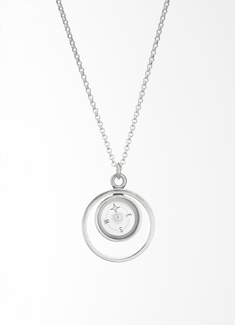 Design for suunto the guiding star compass necklace lina simons guiding star silver compass pendant designed in 2014 this picture is a property aloadofball Choice Image