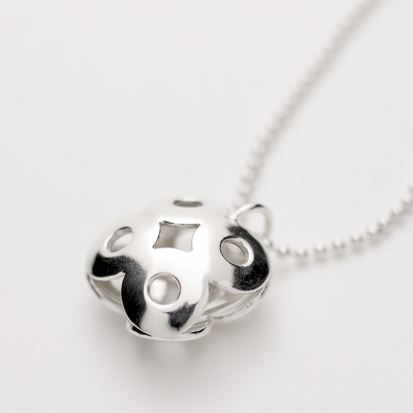 """Onni"", necklace in sterling silver. Designed in 2002"