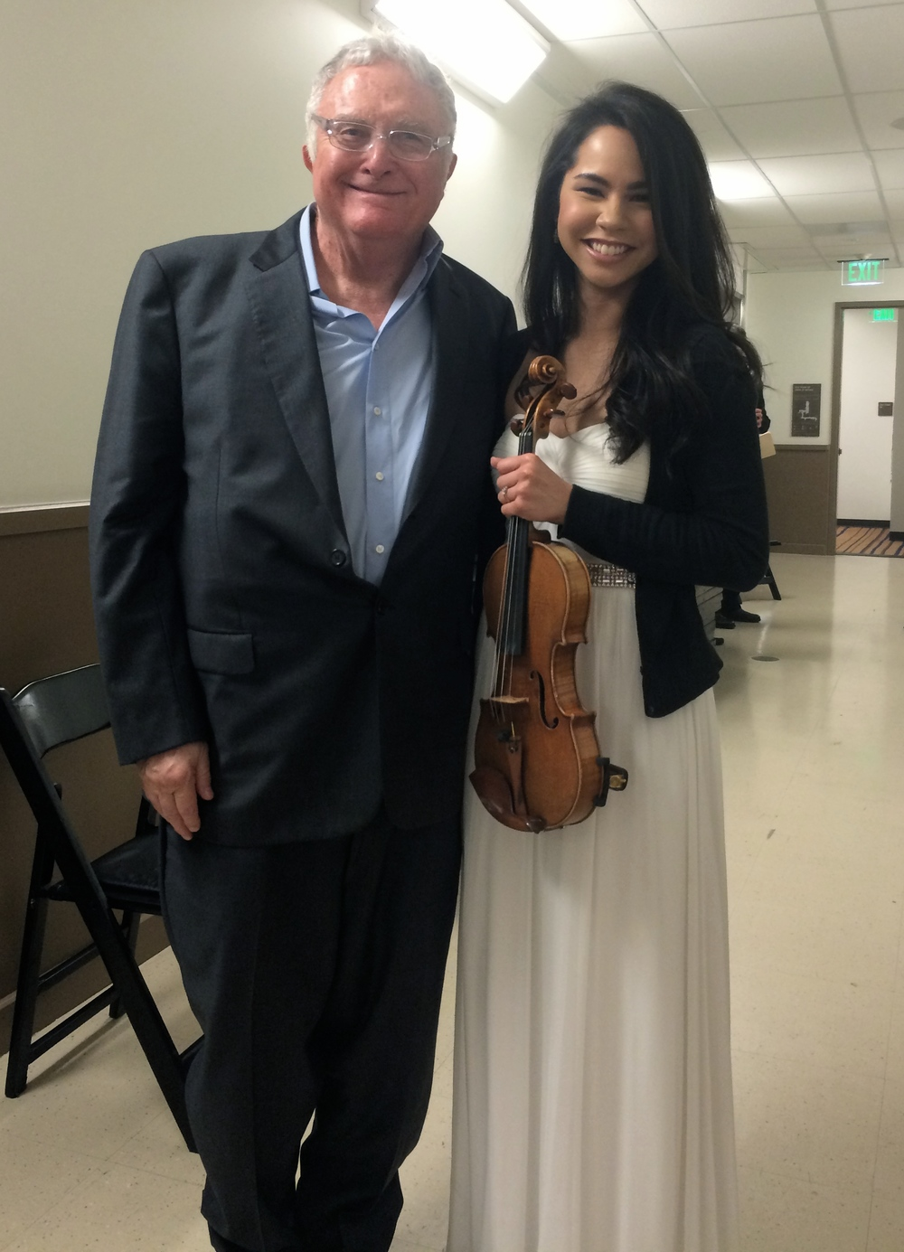 Backstage with film composer Randy Newman  February 2015  ·  Los Angeles
