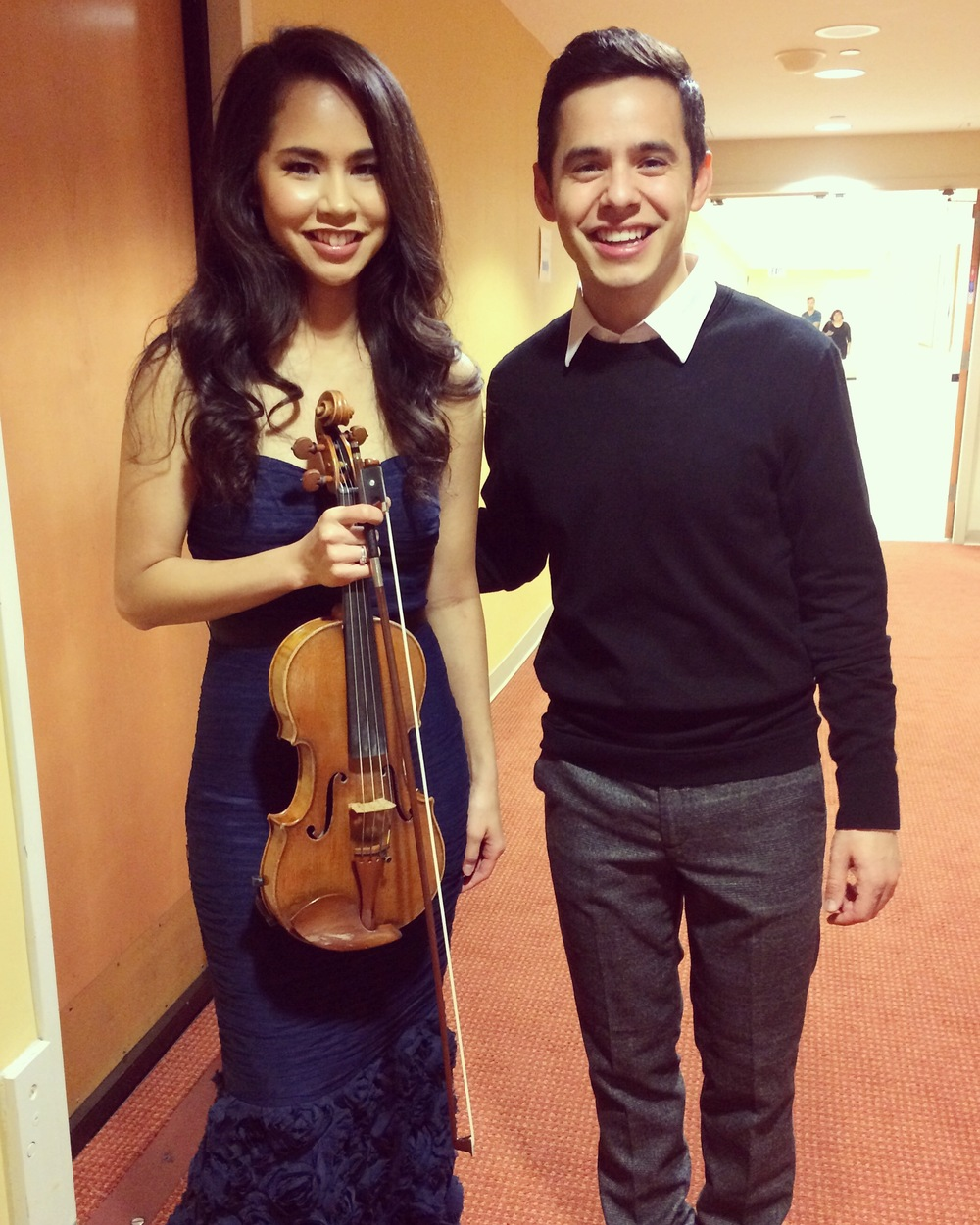 Post-performance for Nathan Pacheco with musical guest David Archuleta  October 2015  · Miami, FL