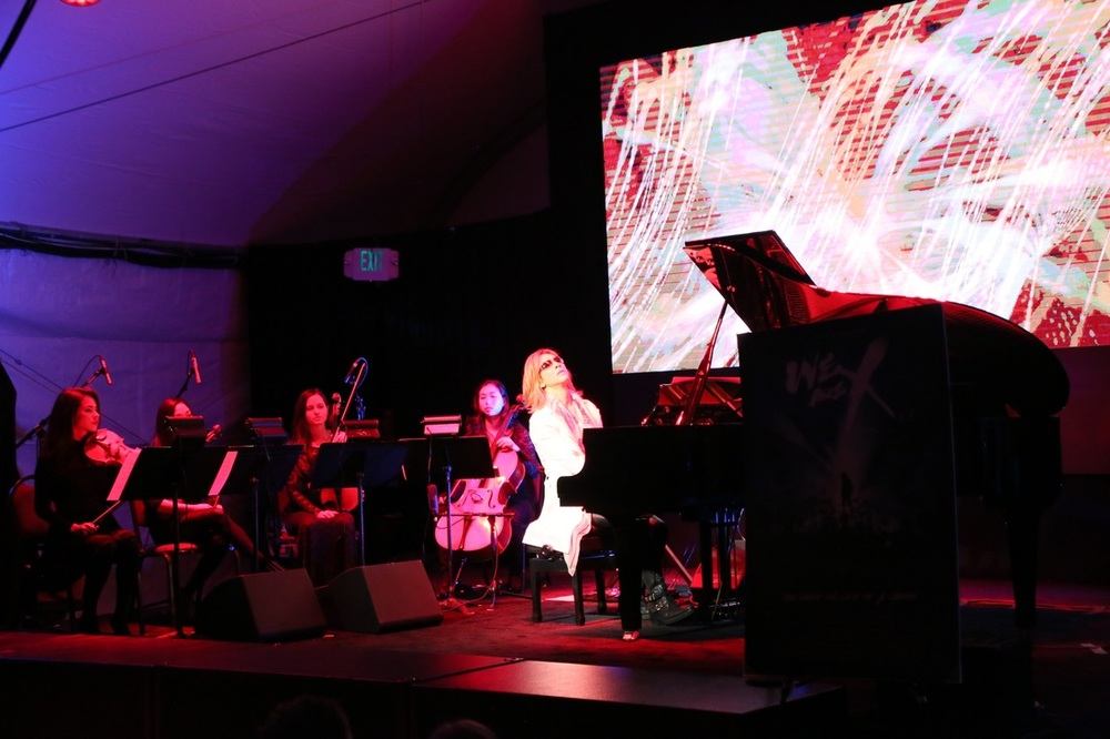 Performing with Yoshiki at the Sundance Festival Base Camp  January 2016  ·   Park City, UT  Photo by YSK Ent.