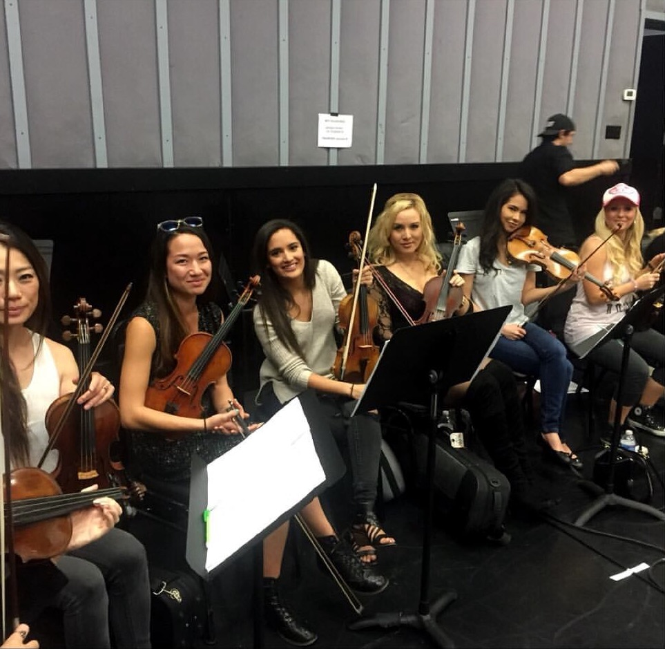 Strings at rehearsal with Richard Marx   April 2016   ·  Burbank, CA