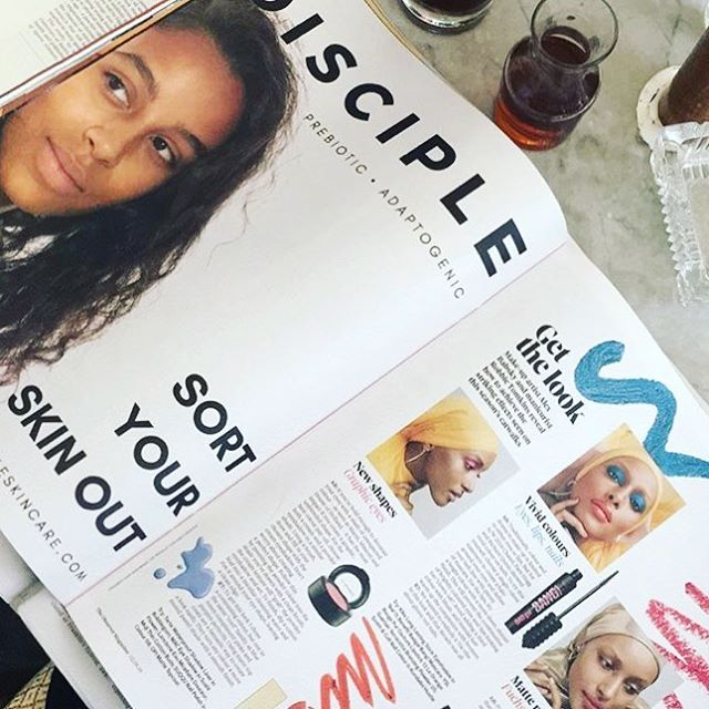 Have you seen todays @obsmagazine? 👀 It's a beauty special with a full page DISCIPLE ad featuring a beautiful, make-up free, un-photoshopped model 🙌🏽 . #beauty #naturalbeauty #skincare #naturalskincare #greenbeauty #makeupfree #nomakeup #nophotoshop #wellness #wellbeing #acne #anxiety #stress #faceoil #beautycommunity #blogger #london #indiebeauty #clean #vegan #crueltyfree